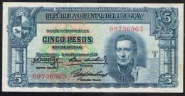 Ref. 5037-5542 - BIN URUGUAY . 1939. URUGUAY 5 PESOS 1939 - Uruguay