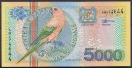Ref. 4463-4966 - BIN SURINAME . 2000. SURINAM 5000 GULDEN 2000 - Suriname