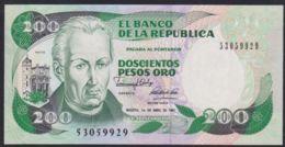 Ref. 4005-4508 - BIN COLOMBIA . 1991. COLOMBIA 200 PESOS 1991 - Kolumbien