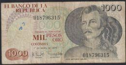 Ref. 4002-4505 - BIN COLOMBIA . 1979. COLOMBIA 1000 PESOS 1979 - Kolumbien