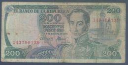 Ref. 3999-4502 - BIN COLOMBIA . 1978. COLOMBIA 200 PESOS 1978 - Kolumbien