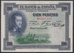 Ref. 225-4432 - BIN SPAIN . 1925. 100 Pesetas Alfonso XIII 1st July 1925. 100 Pesetas Alfonso XIII 1 De Julio De 1925 - [ 1] …-1931 : Premiers Billets (Banco De España)
