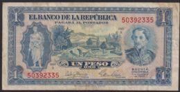 Ref. 3887-4324 - BIN COLOMBIA . 1953. COLOMBIA 1 PESO 1953 - Kolumbien