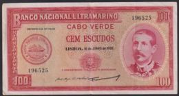 Ref. 3695-4132 - BIN CAPE VERDE . 1958. CABO VERDE 100 ESCUDOS 1958 - Cap Verde
