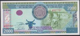Ref. 3617-4054 - BIN BURUNDI . 2001. BURUNDI 2000 FRANCS 2001 - Burundi