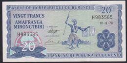 Ref. 3600-4037 - BIN BURUNDI . 1970. BURUNDI 20 FRANCS 1970 - Burundi