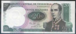 Ref. 3523-3959 - BIN VENEZUELA . 1987. VENEZUELA 20 BOLIVARES 1987 - Venezuela