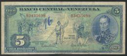 Ref. 3509-3945 - BIN VENEZUELA . 1966. VENEZUELA 5 BOLIVARES 1966 - Venezuela