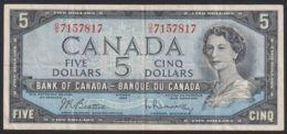 Ref. 3486-3921 - BIN CANADA . 1954. CANADA 5 DOLLARS 1954 - Canada