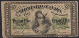 Ref. 3476-3911 - BIN CANADA . 1870. CANADA 25 CENTS 1870 - Canada