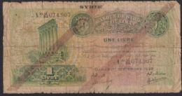 Ref. 3149-3572 - BIN SYRIA . 1939. SYRIE 1 LIVRE 1939 - Syrie