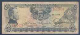 Ref. 3133-3556 - BIN HONDURAS . 1976. HONDURAS 5 LEMPIRAS 1976 - Honduras