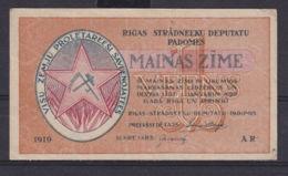 Ref. 3077-3500 - BIN LATVIA . 1919. LATVIA 1 RUBLI 1919 - Letland