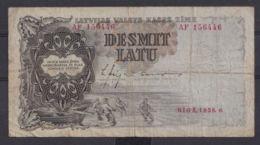 Ref. 3075-3498 - BIN LATVIA . 1938. LATVIA 10 LATU 1938 - Letland