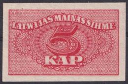 Ref. 3066-3489 - BIN LATVIA . 1920. LATVIA 5 KAPEIKAS 1920 - Letland