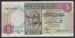 Ref. 3038-3461 - BIN LIBYA . 1991. LIBYA 5 DINARS 1991 - Libya