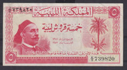 Ref. 3017-3440 - BIN LIBYA . 1952. LIBYA 5 PIASTRES 1952 - Libia