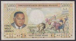 Ref. 2978-3401 - BIN MADAGASCAR . 1966. MADAGASCAR 5000  FRANCS 1966 - Madagascar
