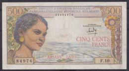 Ref. 2977-3400 - BIN MADAGASCAR . 1966. MADAGASCAR 500  FRANCS 1966 - Madagascar