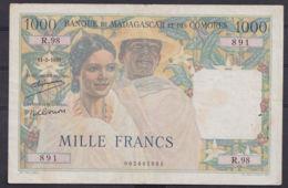Ref. 2974-3397 - BIN MADAGASCAR . 1950. MADAGASCAR 1000 FRANCS 1950 COMORES - Madagascar