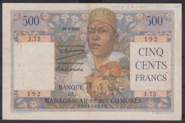 Ref. 2973-3396 - BIN MADAGASCAR . 1950. MADAGASCAR 500 FRANCS 1950 COMORES - Madagascar