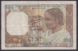 Ref. 2972-3395 - BIN MADAGASCAR . 1950. MADAGASCAR 500 FRANCS 1950 COMORES - Madagascar