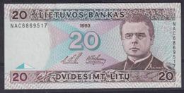Ref. 2921-3344 - BIN LITHUANIA . 1993. LITHUANIA 20 LITAS 1993 - Lithuania
