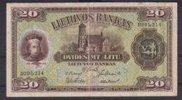 Ref. 2896-3319 - BIN LITHUANIA . 1930. LATVIA 20 LITU 1930 - Lithuania