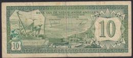 Ref. 2830-3253 - BIN NETHERLANDS ANTILLES . 1972. NEDERLAND ANTILLEN 10 GULDEN 1972 CURA�AO - Antilles Néerlandaises (...-1986)