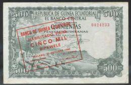 Ref. 2777-3200 - BIN EQUATORIAL GUINEA . 1980. GUINEA ECUATORIAL 500 BIPKWELE 1980 - Guinea Equatoriale