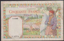 Ref. 2742-3165 - BIN ALGERIA . 1945. ALGERIE 50 FRANCS 1945 - Algerien