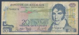 Ref. 2651-3074 - BIN GUATEMALA . 1988. GUATEMALA 20 QUETZALES 1988 - Guatemala