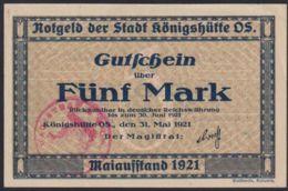 Ref. 2608-3031 - BIN GERMANY . 1921. GERMANY 5 MARK KONIGSHUTTE 1921 - Non Classés