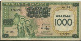 Ref. 2489-2912 - BIN GREECE . 1939. GREECE 1000 DRACHMA 1939 - Grèce