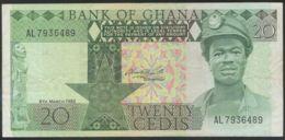 Ref. 2456-2879 - BIN GHANA . 1982. GHANA 20 CEDIS 1982 - Ghana