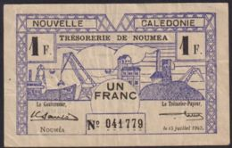 Ref. 2372-2795 - BIN NEW CALEDONIA . 1942. NEW CALEDONIA 1 FRANC 1942 - Nouméa (Nuova Caledonia 1873-1985)