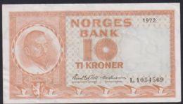 Ref. 2362-2785 - BIN NORWAY . 1972. NORWAY NORGES BANK 1972 10 KRONER - Noorwegen