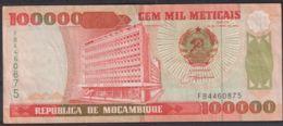 Ref. 2086-2509 - BIN MOZAMBIQUE . 1993. MOZAMBIQUE 100.000 METICAIS 1993 - Mozambique