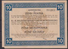 Ref. 1997-2420 - BIN MONTENEGRO . 1917. MONTENEGRO 10 PERPER 1917 - Serbia