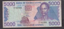 Ref. 1975-2398 - BIN SIERRA LEONE . 1993. 5000 LEONES SIERRA LEONA 1993 - Sierra Leone