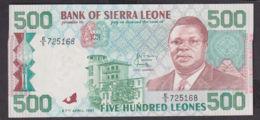 Ref. 1971-2394 - BIN SIERRA LEONE . 1991. 500 LEONES SIERRA LEONE 1991 - Sierra Leone