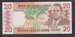 Ref. 1968-2391 - BIN SIERRA LEONE . 1988. 20 LEONES SIERRA LEONE 1988 - Sierra Leone