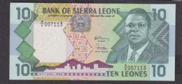 Ref. 1967-2390 - BIN SIERRA LEONE . 1988. 10 LEONES SIERRA LEONE 1988 - Sierra Leone