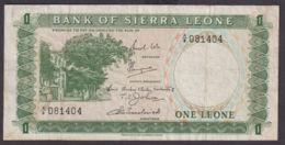 Ref. 1959-2382 - BIN SIERRA LEONE . 1970. 1 LEONE SIERRA LEONE 1970 - Sierra Leone