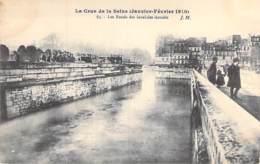 75 - PARIS 07 °  INONDATIONS De PARIS ( Janvier 1910 ) Crue De La Seine - Les Fossés Des Inavlides Inondés - CPA - Seine - De Overstroming Van 1910