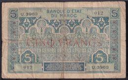 Ref. 1782-2205 - BIN MOROCCO . 1922. MAROC 5 FRANCS 1922 - Maroc