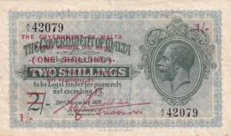 Ref. 1760-2183 - BIN MALTA . 1918. MALTA; 1 SHILLING OF 2 SHILLINGS; 1918  (1940) - Malta
