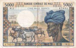 Ref. 1759-2182 - BIN MALI . 1972. MALI 5000 FRANCS 1972 - Malí