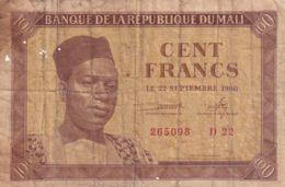 Ref. 1755-2178 - BIN MALI . 1960. MALI 100 FRANCS 1960 - Malí