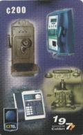 Costa Rica, CRI-V24,Telefonos Antiguos 1 Emision Logo Icetel . - Costa Rica